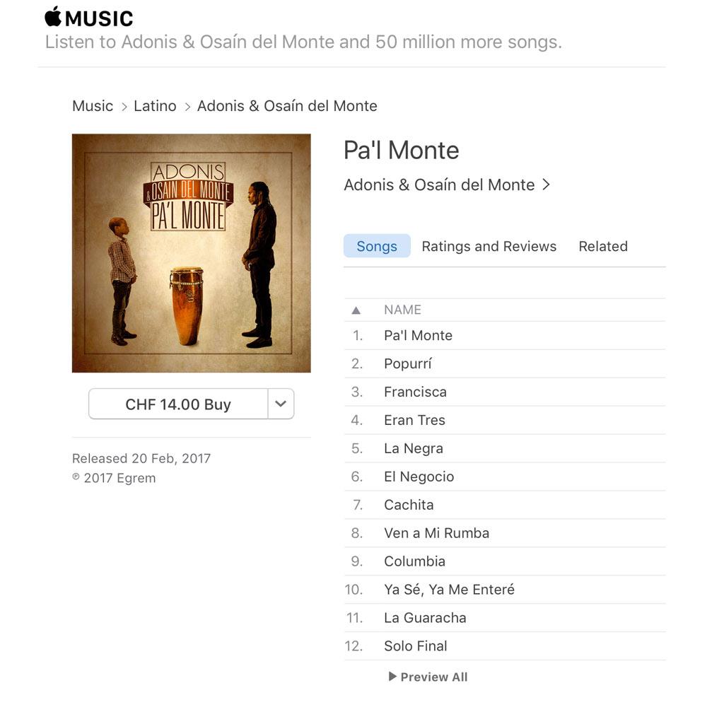Osain del Monte - Pal Monte - iTunes